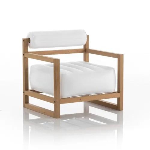 fauteuil blanc opaque cadre bois maisons du monde