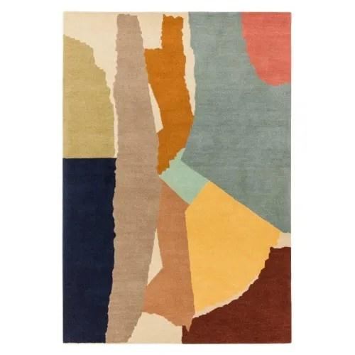 tapis moderne haut de gamme abstrait en laine 160 x 230 maisons du monde