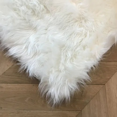 tapis extra doux esprit peau de mouton blanc 100x150 maisons du monde
