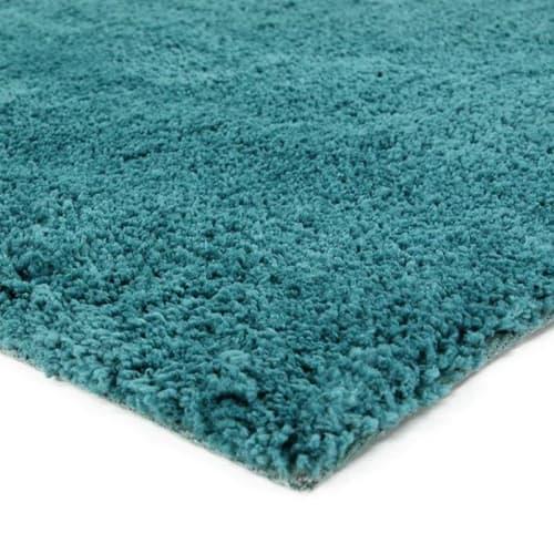 tapis shaggy extra doux bleu scandinave 60x90 maisons du monde