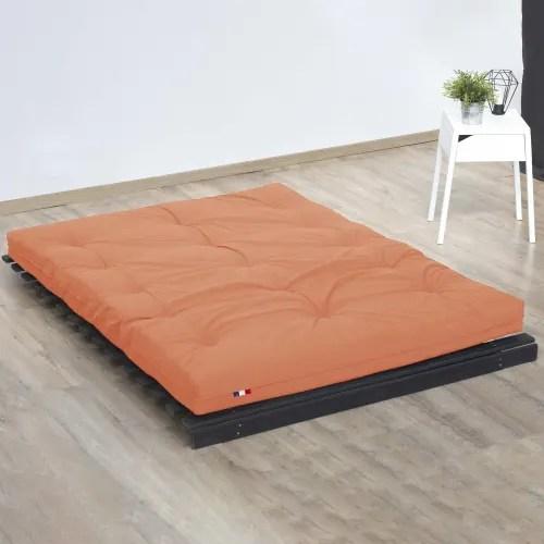 matelas futon latex couleur goyave 160x200 maisons du monde