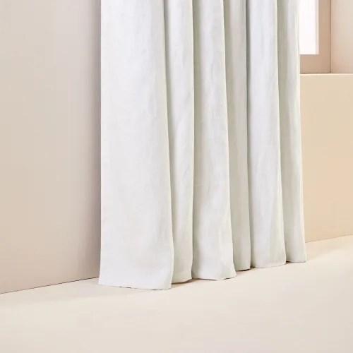 rideau oeillets double occultant 190x270 cm blanc maisons du monde