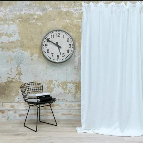rideau gaze de coton blanc nouettes 140x270 cm maisons du monde