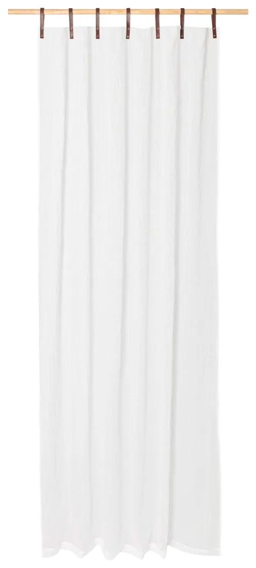 panneau voilage finition pattes aspect cuir blanc 245 x 135 maisons du monde