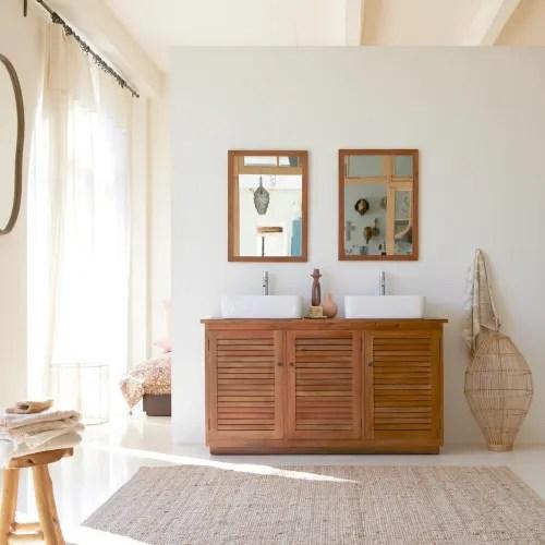 meuble de salle de bain en bois d acajou massif 142 loggia maisons du monde