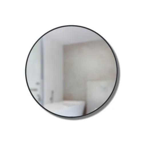 miroir et etageres de rangement en metal 51x14cm noir maisons du monde