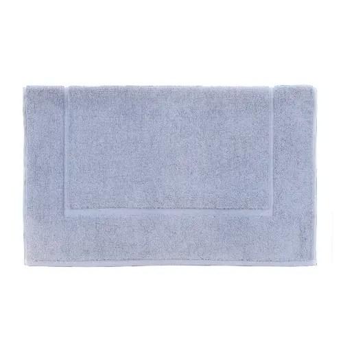 tapis de bain uni en coton bleu horizon 60x60 maisons du monde
