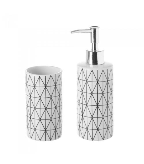 set de salle de bain distributeur savon verre maisons du monde
