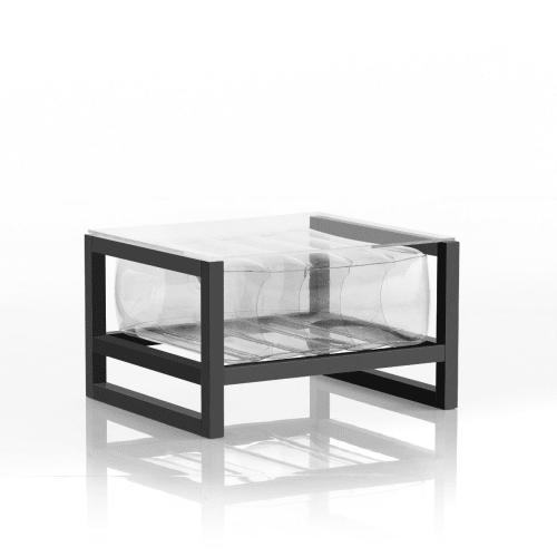 table basse en aluminium et tpu transparent maisons du monde