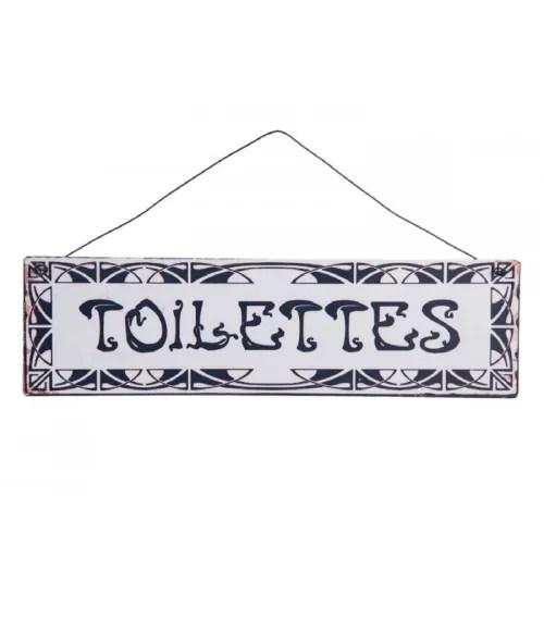 plaque de porte wc signaletique toilettes 25x7 maisons du monde