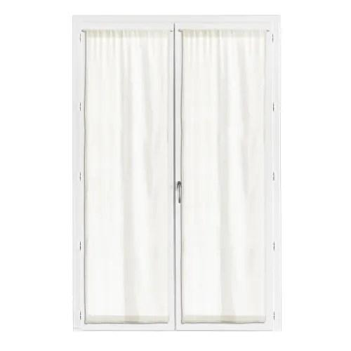 lot de 2 rideaux voile en coton blanc 70 x 190 maisons du monde