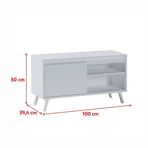 meuble tv scandinave 100 cm blanc maisons du monde