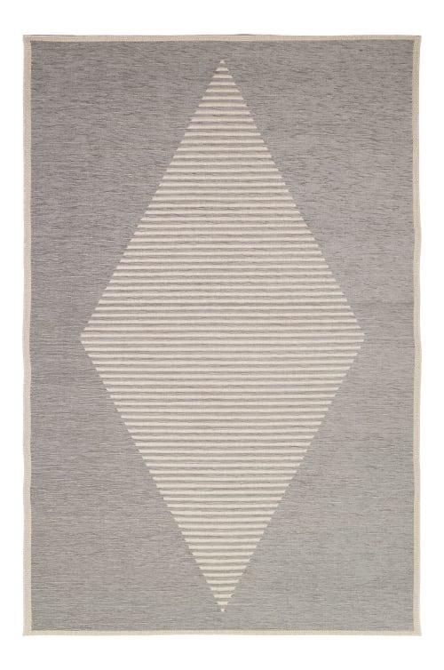 tapis diatonique gris perle 153x230 maisons du monde