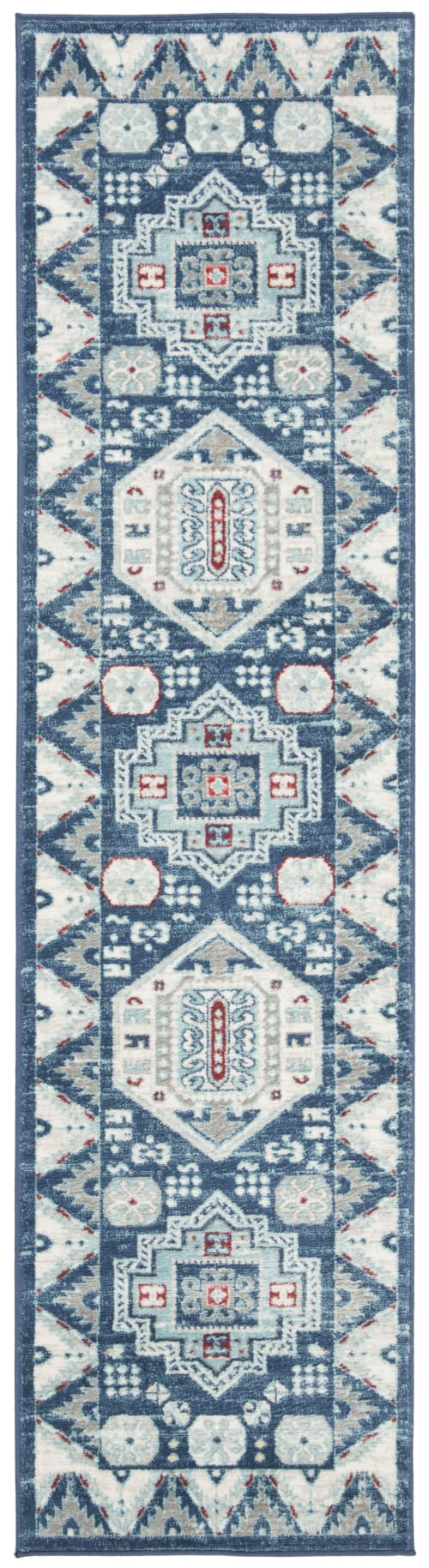 tapis de couloir shaggy bleu et creme 62x240 maisons du monde