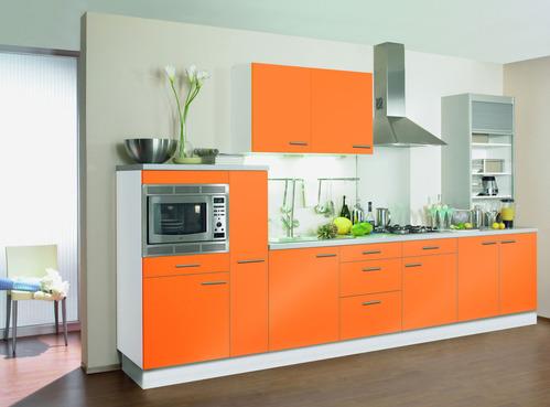 Photo Le Guide de la cuisine  Cuisine design orange love cost