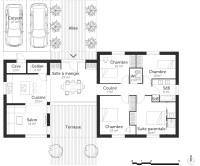 Merveilleux Plan Maison 6 Chambres De Chambre Luxe Tage