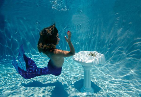 Chris Crumley Mermaid Pool Session With