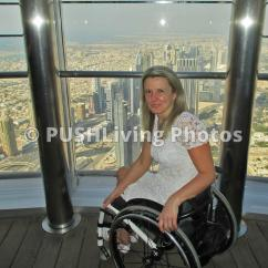Wheelchair Emirates Shiatsu Massage Chair Pushliving Disability Stock Images Young Woman Traveler