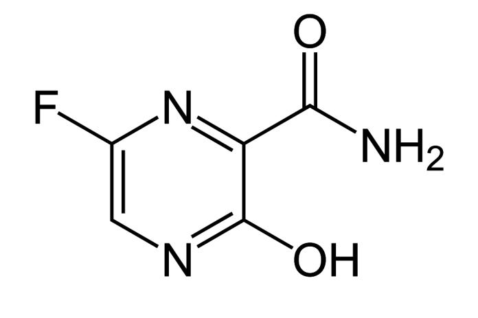 chemical structure of favipiravir