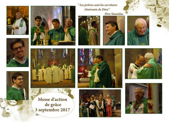 Récapitulatif photos de la messe de départ - 3 septembre 2017