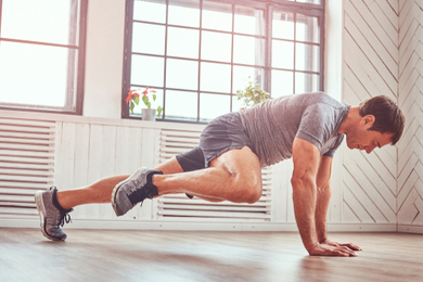 Abdominal workout at home
