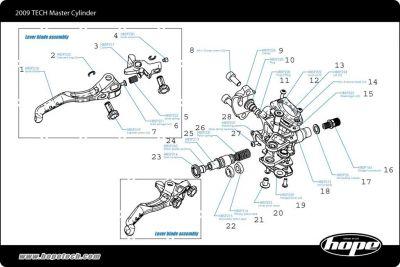 Joint de piston Hope HBSP207 p. étrier Tech V2 sur Ultime Bike