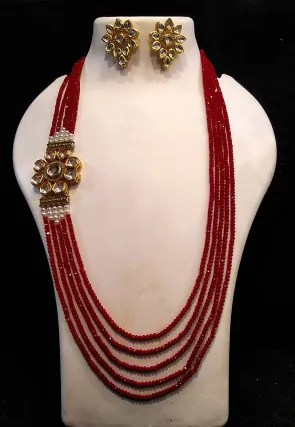 Red Jewelry Sets : jewelry, Jewelry, Sets:, Necklaces,, Earrings,, Bangles