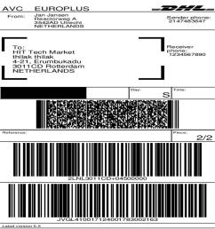 module preparation shipping dhl parcel shipping with print label 1 [ 1000 x 1000 Pixel ]
