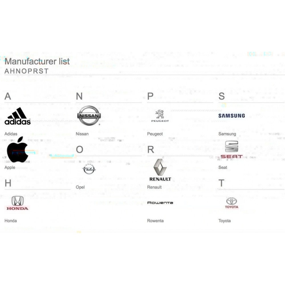 Brands glossary ABC / alphabetical manufacturer list
