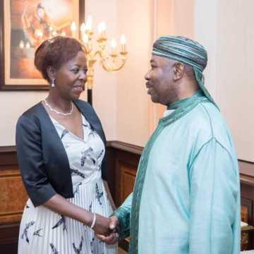 Francophonie : la Secrétaire Générale, Louise Mushikawabo à Libreville.