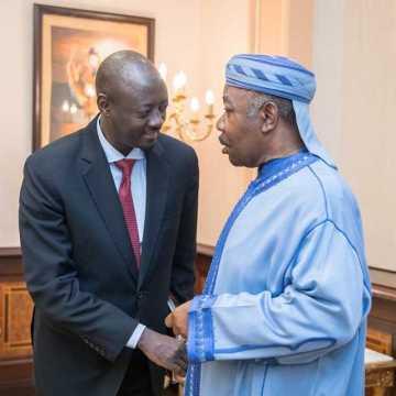 Ali Bongo Ondimba reçoit le gouverneur de la BEAC, Abbas Mahamat Tolli