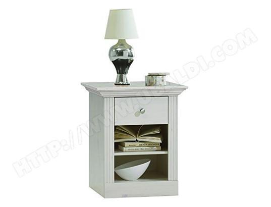 pegane table de chevet en pin massif coloris blanc dim 62 x 56 x 46 cm pegane ma 82ca193tabl b4iln