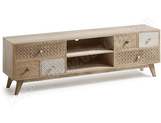 lf meuble tv hood 160 cm bois