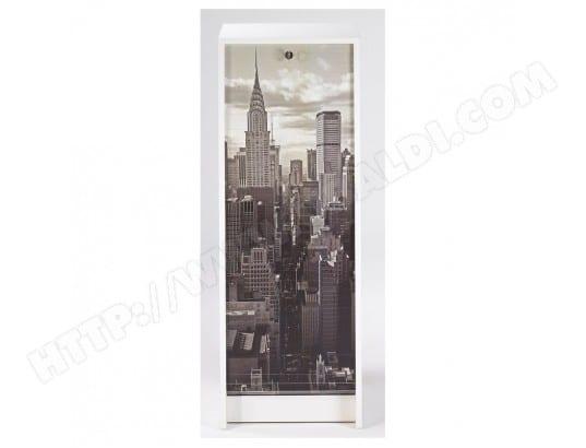 simmob classeur a rideau blanc rideau imprime coloris new york 500 boost105bl500