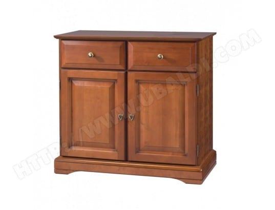 beaux meubles pas chers buffet bas 2 portes 2 tiroirs louis philippe merisier 6757