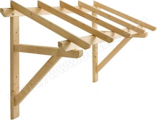 jardipolys auvent en bois pour porte d entree 25337
