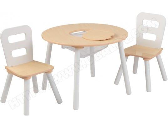 kidkraft table enfant ronde et 2 chaises 12266