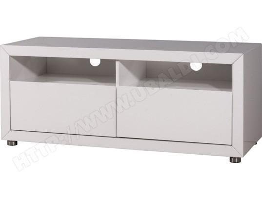 pegane meuble tv element bas blanc 120 x 45 x 45 cm pegane ma 82ca487meub bdr7y
