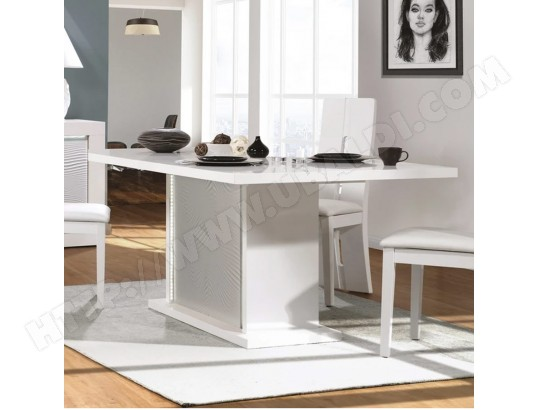 nouvomeuble table a manger extensible blanche laquee design karl ma 82ca492tabl ziyct