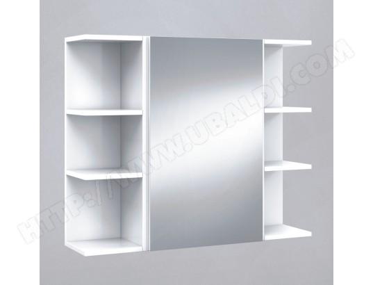 pegane set de element haut de salle de bain avec miroir etagere d angle 20 cm pegane ma 82ca276setd 6pta1