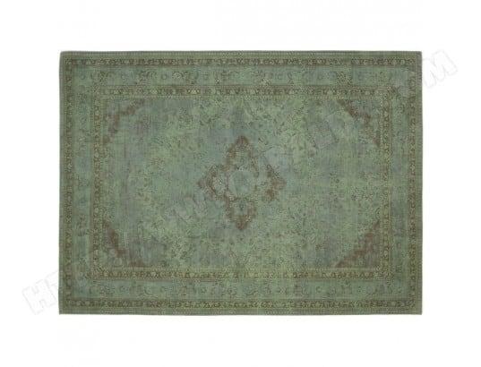 tapis style oriental en coton vert
