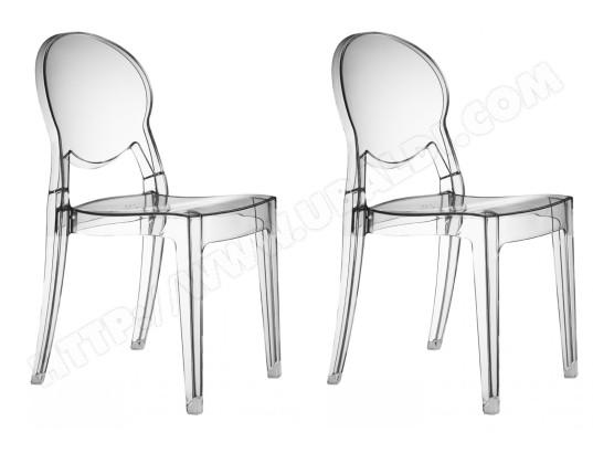 scab design chaise lot de 2 chaises igloo transparente