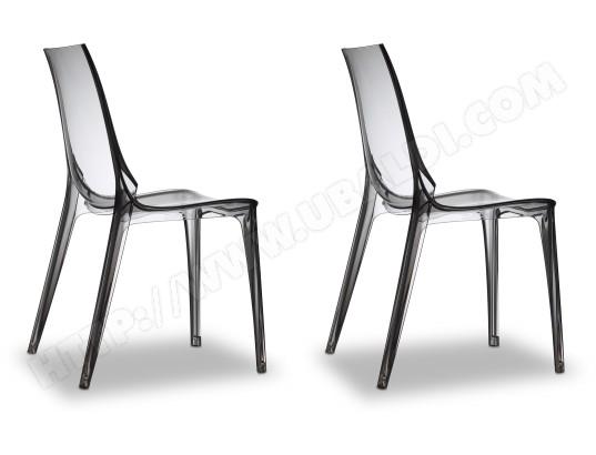 scab design chaise lot de 2 chaises vanity tranparent fume