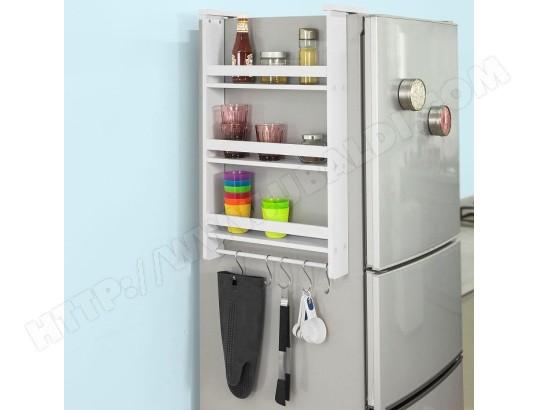sobuy frg150 w etagere a suspendre pour refrigerateur avec ventouses etagere a epices en bois 3 etageres blanc frg150 w