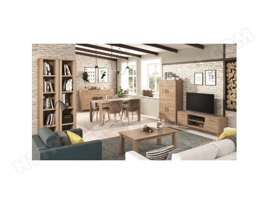 hevea ensemble meuble tv meuble 4p 2 etageres colonne buffet table a manger table basse kronos 109plus compose de 7 elements