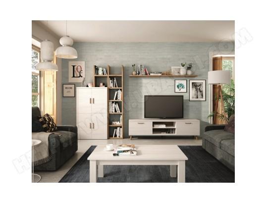 hevea ensemble bibliotheque meuble tv table basse kronos 111plus compose de 5 elements ma 22ca487ense wg27b