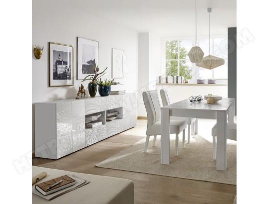 kasalinea salle a manger design blanc laque buffet 241 cm nerina ma 91ca492sall d99ea