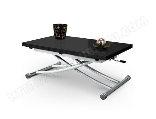 giovanni marchesi table basse relevable mirage dessus verre noir ma 82ca492tabl go89t