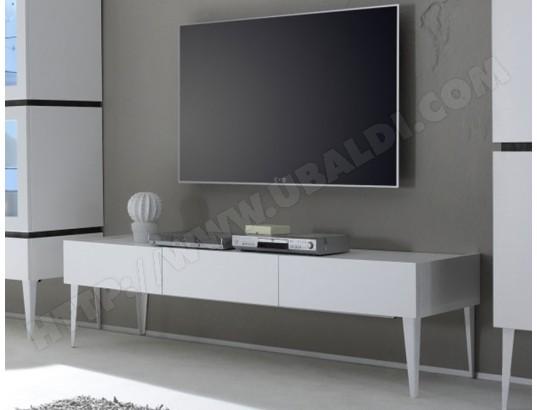 sofamobili meuble tv gris ou blanc 3 tiroirs legos 2 m tv c 336 0