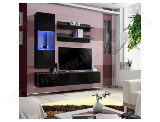 price factory meuble tv fly h3 design coloris noir brillant meuble suspendu moderne et tendance pour votre salon ma 76ca494meub dvs87